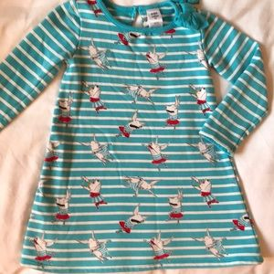 Gymboree Olivia the Pig striped French terry dress